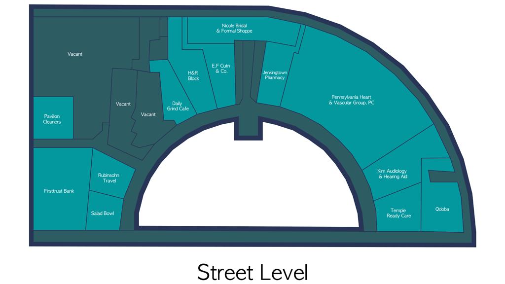 Pavilion Retail Space Floor Plan - Street Level