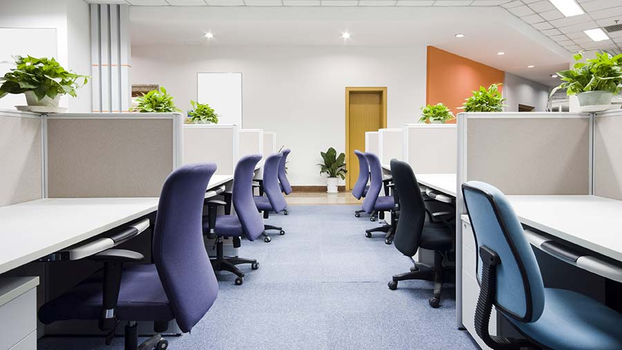 Office Space and cubicles at the Pavilion